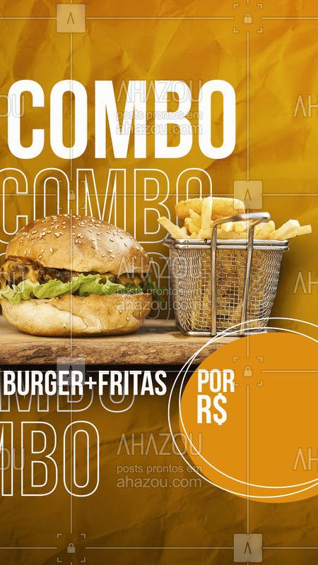 É isso mesmo !! Burger + fritas  por apenas:[] não perca tempo peça já o seu. ❤?? #ahazou #food #fritas #burger
