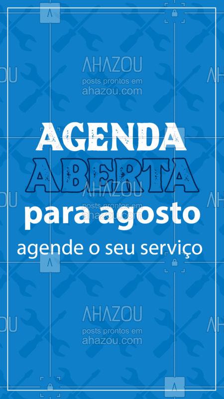 Aproveite o início do mês para organizar a sua casa e se precisar de ajuda, me chama que eu vou! ? #AgendaAberta #agendaagosto #serviçosparacasa #AhazouServiços #Serviços