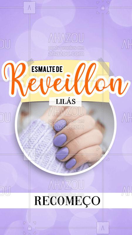 Pra você que deseja novos recomeços em 2020, o esmalte lilás é a aposta ideal pra você usar na virada ?  #2020 #anonovo #significadodascores #bandbeauty #reveillon #ahazou #esmalte #nails #naildesign #colors #cordereveillon