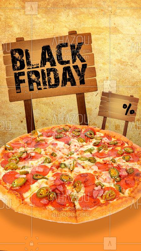 Aproveite nosso descontão de Black Friday! Corre pra se deliciar por um preço especial ?♀?♂?  #blackfriday #pizza #bandbeauty #blackband #ahazou