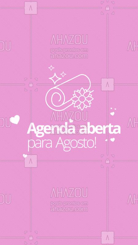 Comece o mês cuidando do seu corpo! A agenda de Agosto já está aberta. ? #esteticacorporal #ahazou #agosto #agenda