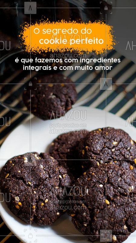 Quer ingrediente que ofereça mais benefícios pra nossa saúde do que amor? ❤️? Além dele, em nossos cookies só utilizamos ingredientes integrais. ?❤️ Experimente! ☎️ Encomendas: (inserir contato)  #Cookies #CookieIntegral #Doces #Saudável #AhazouTaste #Gastronomia #Gastro