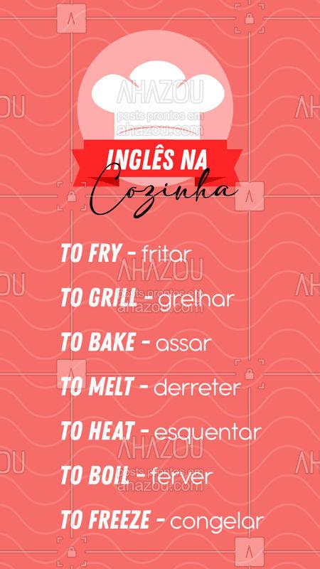 Se liga nessas dicas pra quando você for fazer uma receita! ??  #AhazouEdu  #aulasdeingles #ingles #dicasdeingles #inglesnacozinha #dicasparacozinhar #cookingtips