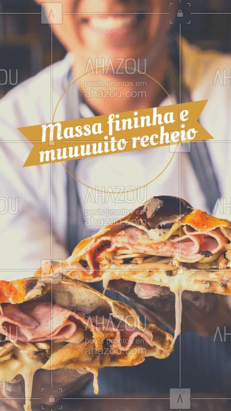 Corre pra cá e experimente os nossos deliciosos calzones! ? #calzone #ahazoutaste #pizzaria