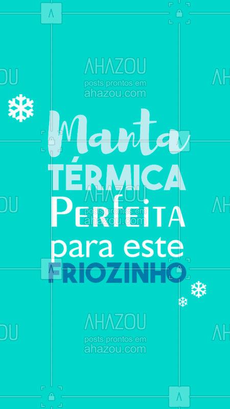 A Manta Térmica é o tratamento perfeito para este friozinho.❄ Agende seu horário e venha reduzir suas medidas! ? #mantatermica #ahazou #esteticacorporal