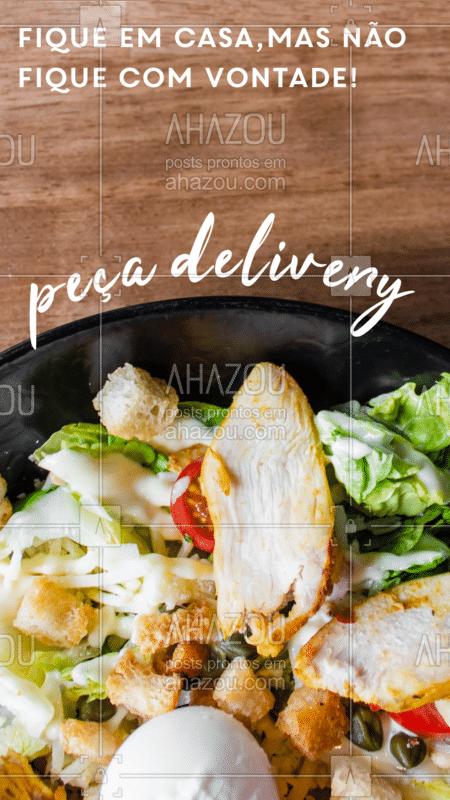 Bateu aquela vontade de comer uma salada? Não fique na vontade, peça pela whats e entregamos para você!  #salada #ahazoutaste #delivery #quarentena