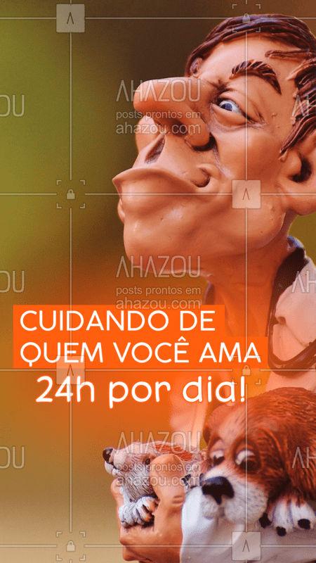 Estamos disponíveis para cuidar do seu bichinho 24 horas por dia! #vet #ahazou #veterinario #24horas