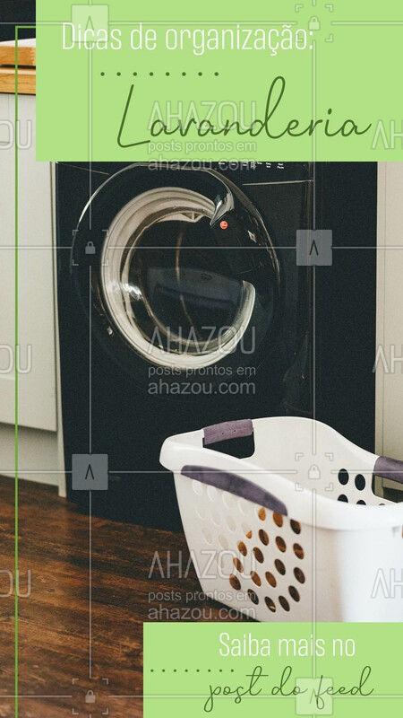 Cestos são sempre uma boa opção para se ter na lavanderia, principalmente para deixar as roupas sujas, assim você pode separa por tipos, cores, conforme sua necessidade. Outra opção é deixar os produtos de limpeza organizados em cestas nos armários, assim você consegue encontrar com mais facilidade o que precisa. ?#organização #dicas #AhazouServiços #lavanderia #organizaçãodalavanderia