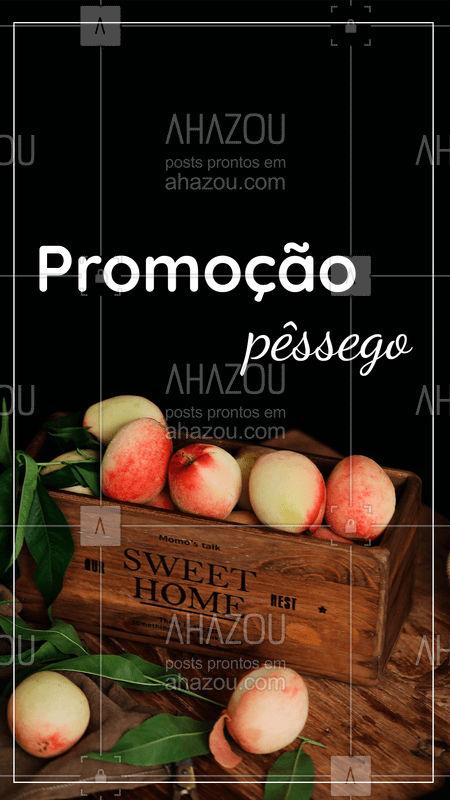 Aproveite a promoção especial dos pêssegos! Hmmm ? #pessego #ahazou #promoção #feira #fruta #frutaria