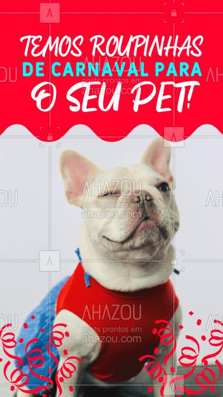 A procura da fantasia perfeita de carnaval para você e seu pet? Corre pra cá, temos várias opções! <3 #pet #dog #pets #dogs #dogsofinstagram #cats #petstagram #puppy #petsofinstagram #ahazoupet
