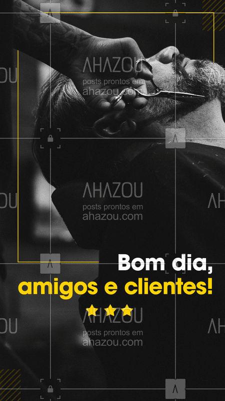 Bom dia! A barbearia já está aberta, vamos agendar seu horário? #barbearia #ahazou #barba #Bomdia