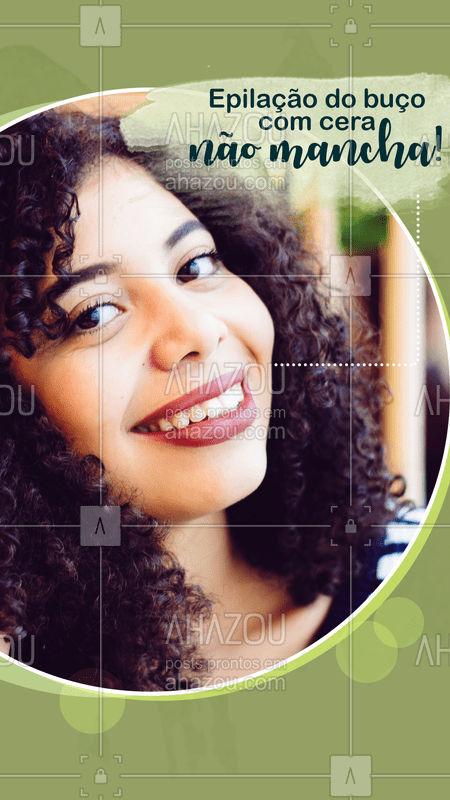 Existe um mito de que a epilação com cera mancha o buço, mas isso não é verdade! É possível que isso aconteça se a profissional não souber escolher a temperatura correta da cera. Além disso, após a depilação é importante usar um protetor solar para proteger a área do sol. Tomando esses cuidados, seu buço ficará lisinho, livre dos pelos e de manchas, é claro ? #epilação #ahazou #depilação #buço