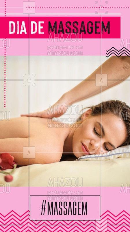 Hoje é dia de você relaxar! Então ligue e marque já seu horário.  #Massagem #Ahazou #Massage