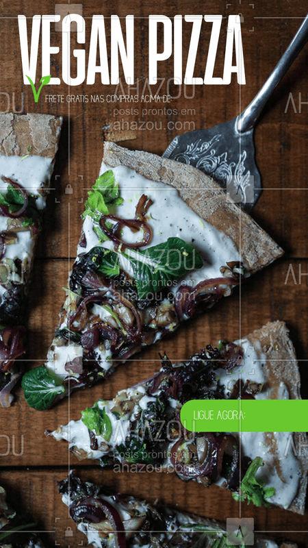 Pensamos em você e fizemos pizzas veganas deliciosas! #vegan #pizza # ahazouvegan