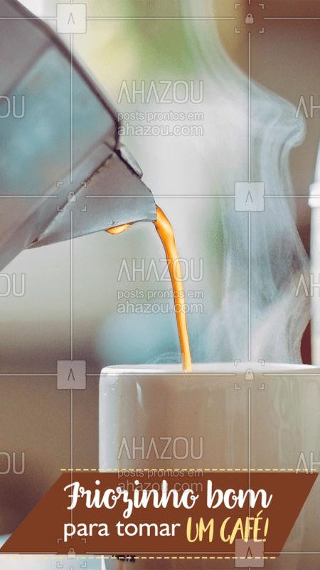 Só assim para se aquecer! #café #ahazou #friozinhobom