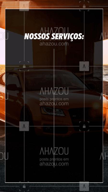 Fique ligado na nossa lista de serviços!  #Tabela #AhazouAuto #Serviços