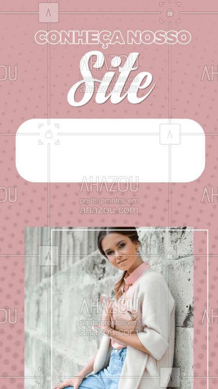 Conheça nosso site e confira nossas novidades! #ahazou #moda #roupas #novidade #site