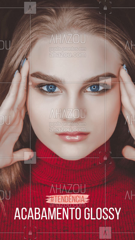 Pode se jogar sem medo na make efeito glossy! Além de elegante, este estilo dá um toque mais moderninho ao seu look! ? #glossy #ahazou #makeup #maquiagem #tendencia
