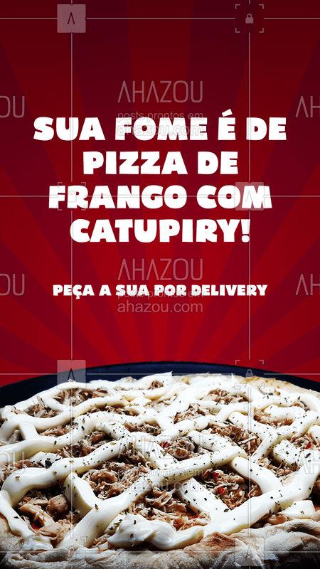 Ta com uma fominha diferente hoje? a gente aposta que é de pizza de frango com catupiry, essa delicia conta com frango desfiado e um catupiry delicioso para garantir a cremosidade da pizza. ? Vem pedir a sua! ? #ahazoutaste  #pizza #pizzaria #pizzalife #pizzalovers #frango #catupiry #frangocomcatupiry #fome #delivery #entregas #pedidos