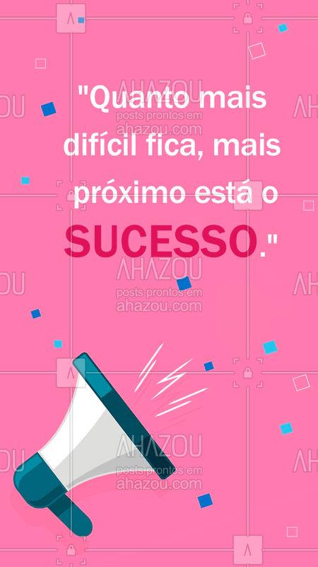 Frase de hoje para motivar vocês! Se está difícil, você está no caminho certo. ? #marketingdigital #AhazouMktDigital #Mktdigital #frases