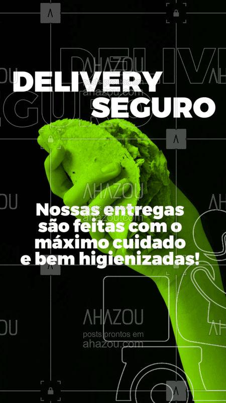Receba sua entrega deliciosa e sem riscos para sua saúde! #ahazou #comida #delivery #coronavirus #covid19 #deliveryseguro