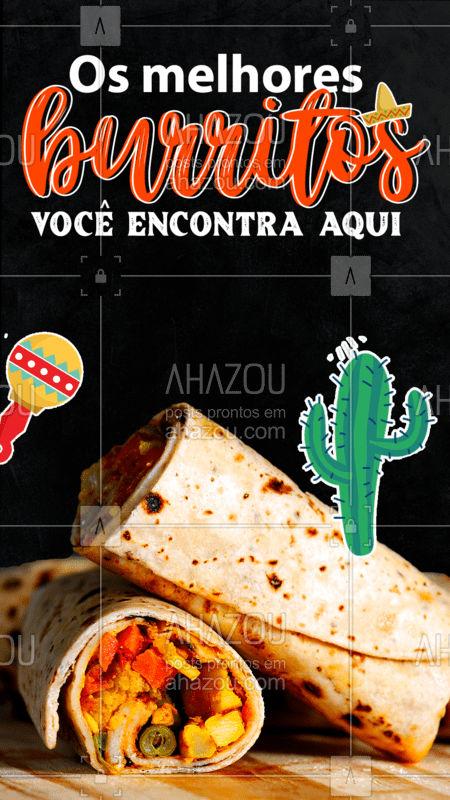 A nossa comida é feita com muito amor e carinho, assim conseguimos entregar burritos com o verdadeiro sabor mexicano! ?? Peça já o seu! ? #ComidaMexicana #Burritos #ahazoutaste  #vivamexico #cozinhamexicana