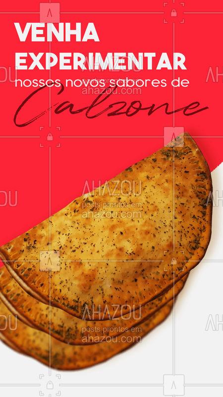 Temos novos sabores e você não vai bobear e deixar de experimentar né?! Acompanhe nossos posts para saber mais! ? #calzone #sabores #delícia #gastronomia #ahazoutaste #salgado #doce #fome #NovosSabores #eat #ahazoutaste