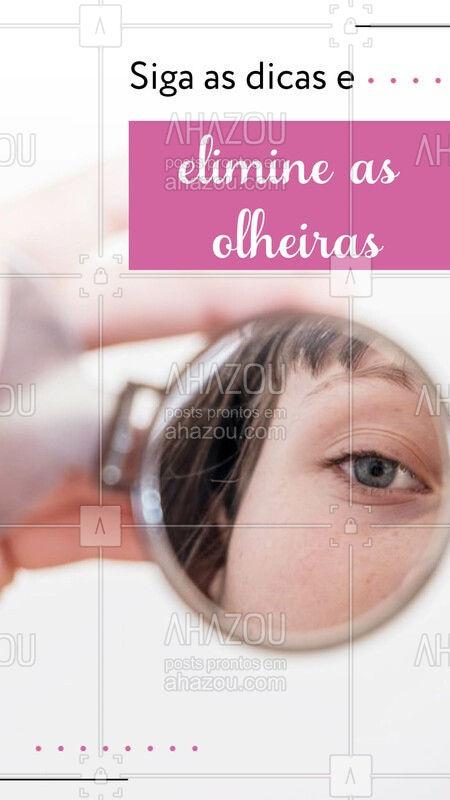 Dicas que vão ajudar no tratamento das suas olheiras: -Durma o suficiente; -Antes de dormir, passe um creme cosmético noturno específico de hidratação da área dos olhos; -Uma boa hidratação na área dos olhos aumenta a espessura da pele; -Lave o rosto com água fria, que promove uma vasoconstrição dos vasos; -Faça massagens circulares suaves na região dos olhos com um creme diurno com filtro solar; -Evite a exposição ao sol para evitar a pigmentação de melanina abaixo dos olhos; -Passe um corretivo; -Utilize truques de maquiagem com base e pó facial. #ahazou #beleza #olheiras #cosmeticos #revenda #revendedoras #catalogo #tratamento #semolheiras #dicas #fiquelinda #beautiful #ahazouavon #ahazourevenda #ahazouabelharainha #ahazouboticario #ahazoueudora #ahazouhinode #ahazoumarykay #AhazouNatura #ahazouracco