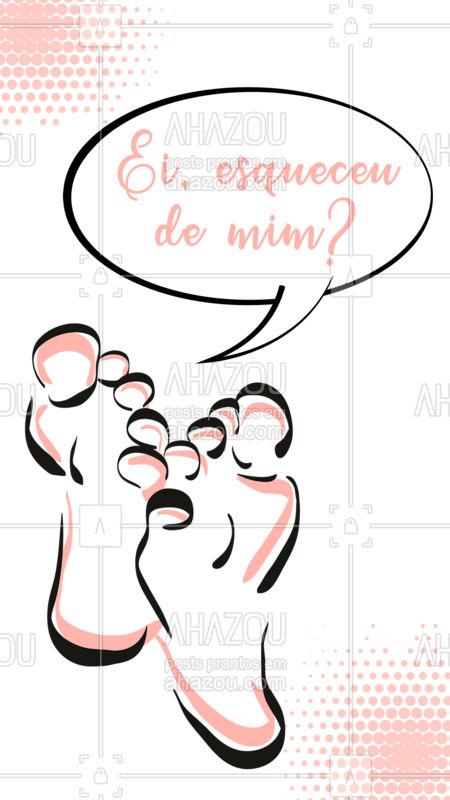 Nossos pés nos levam pra todos os lados e mesmo assim esquecemos de cuidar deles, né? Ligue e agende seu horário pra mudar isso, seus pés merecem atenção <3 #ahzou #podologia