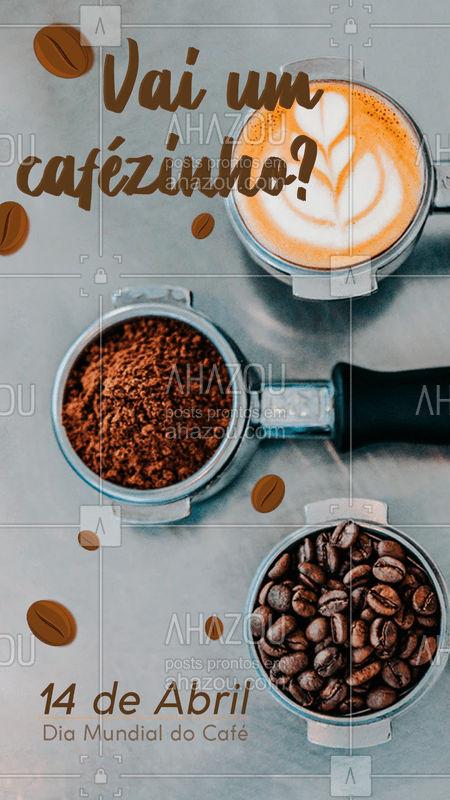 Hoje é dia de celebrar o dia do nosso querido cafézinho. Marca aqui aquele(a) cafélover que você conhece☕️? #cafe #ahazoutaste #cafeteria #café #loucosporcafe #diadocafe