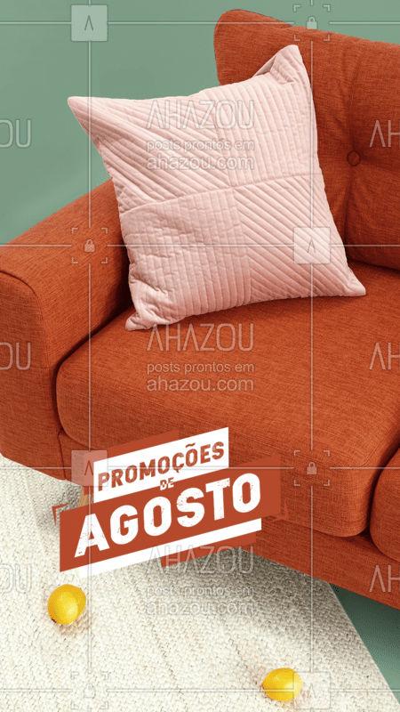 Aproveite nossas promoções para o mês de Agosto! Descontos imperdíveis para você fazer sua limpeza de estofado.  #AhazouServiços #agosto #limpezadeestofado #limpezadesofa