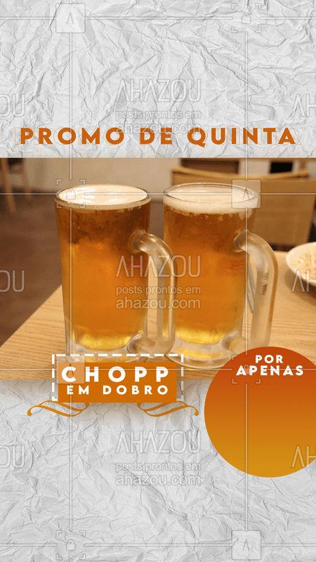 Quinta é quase sexta né? Decreto liberado, e chopp em dobro, aproveita a promo!  #ahazou #beer #bar