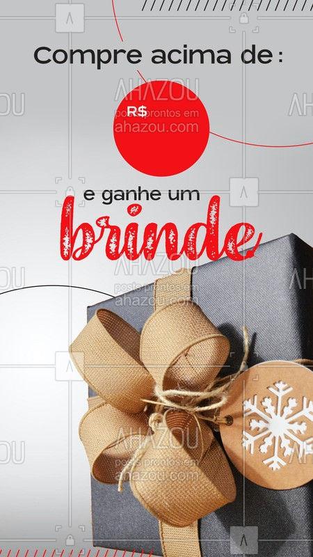 Esse mês você compra produtos e ganha um brinde especial.  #ahazou #comprouganhou #brinde  #promoção #ahazou