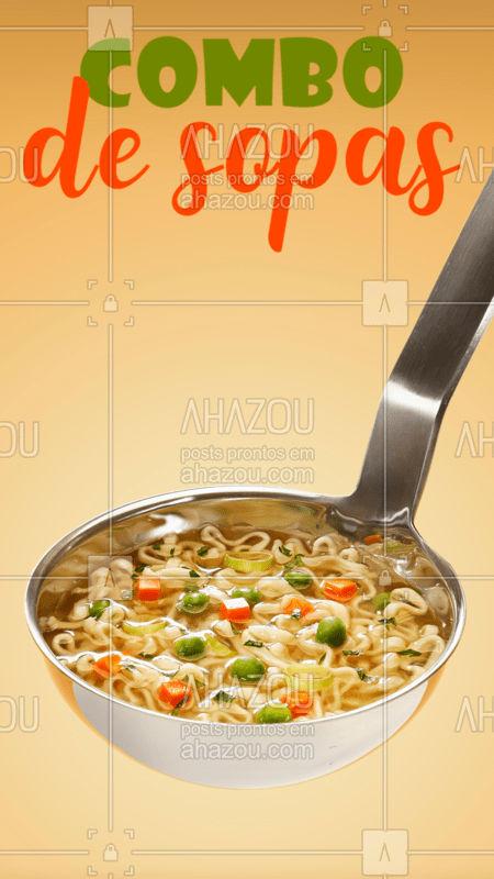 O clima de inverno pede uma sopa quentinha! Encomende já o seu combo! #marmitas #ahazoutaste #sopas #caldos #inverno
