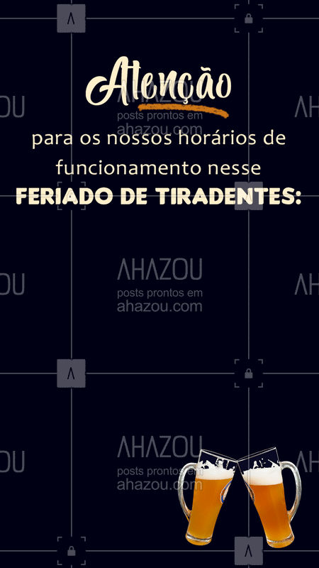 Fiquem atentos aos nossos horários! #feriadou por aqui! ? #ahazoutaste #delicia #horario #tiradentes