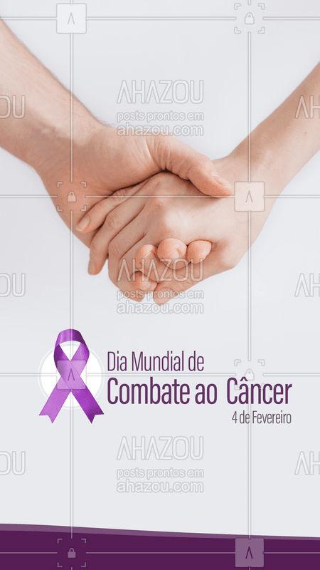 Hoje é Dia Mundial de Combate ao Câncer, momento de conscientização sobre o câncer e incentivar sua preservação. Um diagnóstico precoce salva vidas! #cancer #ahazou #combateaocancer #diamundialdecombateaocancer
