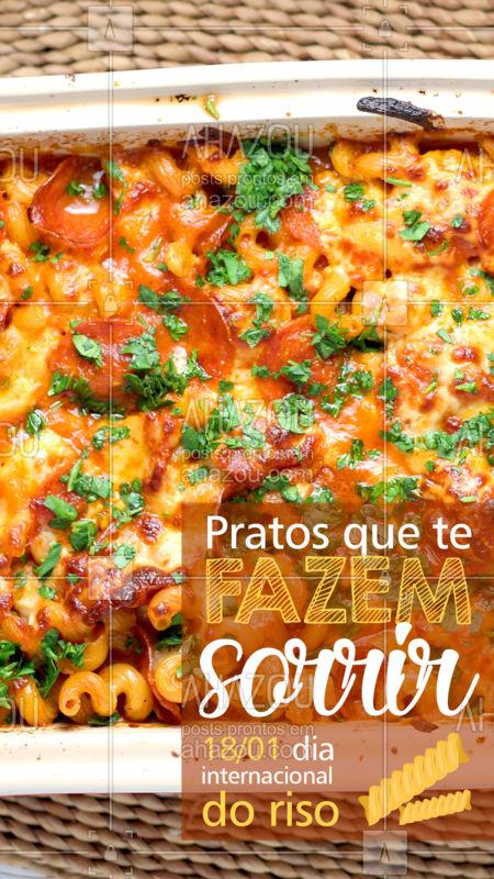 No dia internacional do riso, tenha uma refeição que te faz sorrir! Vem pra cá ou peça pelo delivery <3 #ahazoutaste #foodlovers #diadoriso