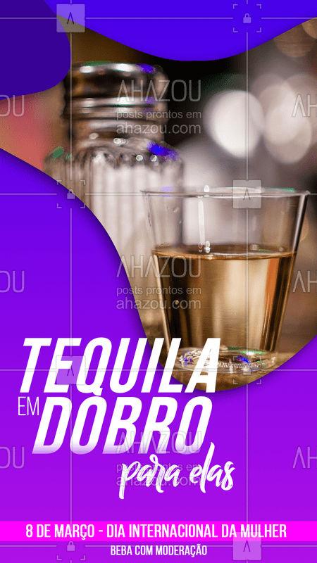 Nada melhor que bebermorar no dia internacional da mulher com tequila em dobro ? APENAS NESSE DOMINGO ?♀?♀ #tequilaemdobro #diadasmulheres #vemprobar #chopp #drink #ahazoudrink #bandbeauty
