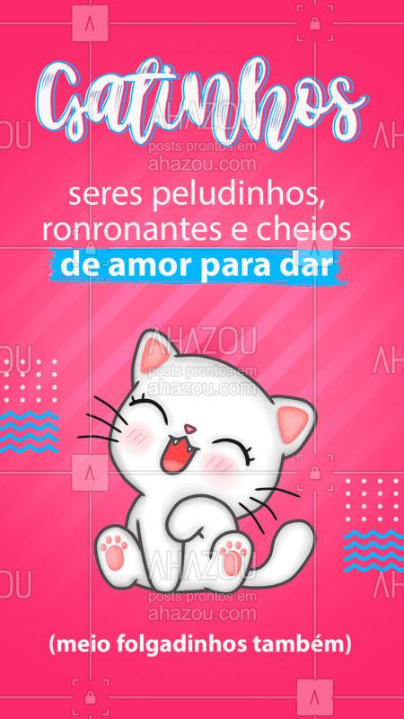 Quem aí tem um serzinho desses cheio de amor e folga para dar? ???❤️  #Cats #Gatinhos #FrasesPet #AhazouPet  #petlovers #ilovepets
