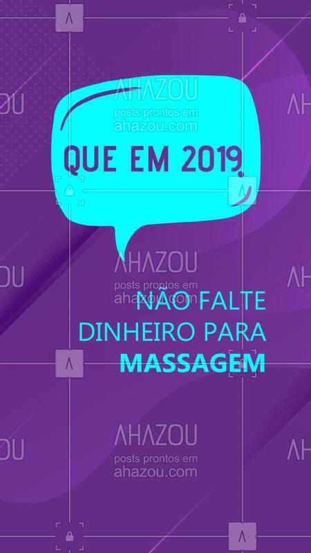 Que 2019 traga muitas bençãos, incluindo dinheiro para fazer massagem de 15 em 15 dias? #ahazouunhas #beleza #anonovovidanova #2019