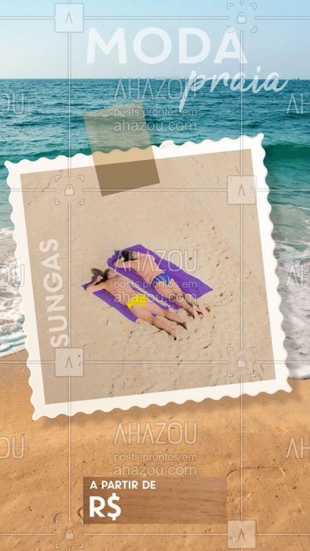 Venha escolher sua sunga preferida para ahazar na praia nesse verão!  #moda #ahazou #praia #acessorio #verão