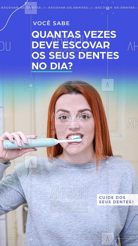 Nós profissionais de odontologia indicamos sempre escovar pelo menos três vezes ao dia e principalmente após as refeições! Quer ter dentes mais lindos? Aproveite e marque sua consulta. #EscovarosDentes #Ahazou #Dentista