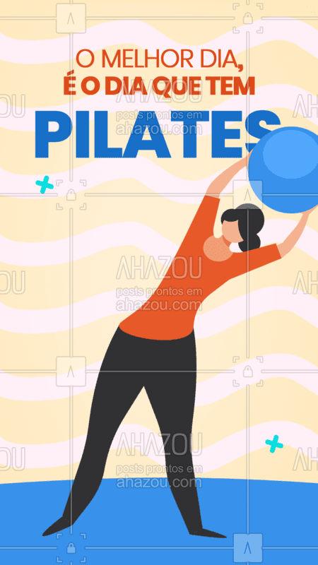 Não há o que discutir, o melhor dia vai ser sempre o dia de Pilates. Bom dia a todos e todas. #pilates #AhazouSaude #bomdia  #pilateslovers