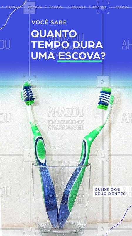 Nós profissionais de odontologia indicamos sempre trocar pelo menos de três em três meses as suas escovas, ou quando as cerdas começarem a se desfiar! Quer ter dentes mais lindos? Aproveite e marque sua consulta. #Escova #Ahazou #Dentista