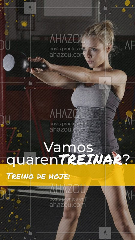 Acompanhe diariamente nosso quarentreino nos Stories!  #quarentreino #ahazou #academiaemcasa