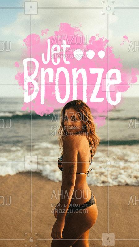 O bronzeamento a jato é perfeito e seguro. Você com a cor bonita e saudável durante todo o ano. #bronzeamento #ahazouestetica #corpo