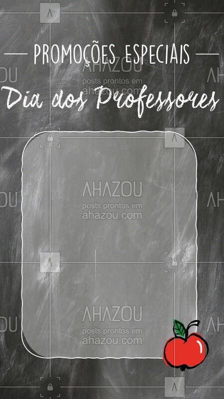 Queridos professores, vamos aproveitar esta data para cuidar um pouco de vocês também! Vocês merecem! ? #diadosprofessores #ahazou #promocao