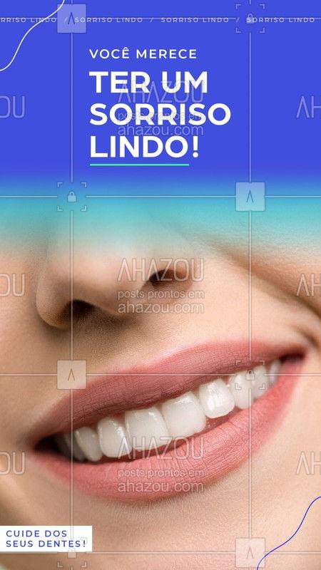 Que tal cuidar desses seus dentes e deixar eles ainda mais lindos? Venha fazer sua consulta. #Dentes #Ahazou #Dentista