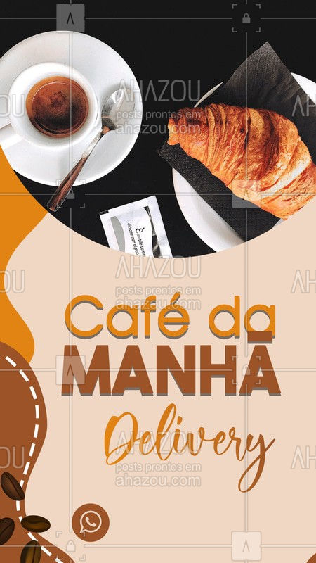 Não precisa mais sair de casa para comprar seu café da manhã, nós entregamos na sua casa! ?☕ #café #delivery #ahazoutaste #cafeteria #bandbeauty