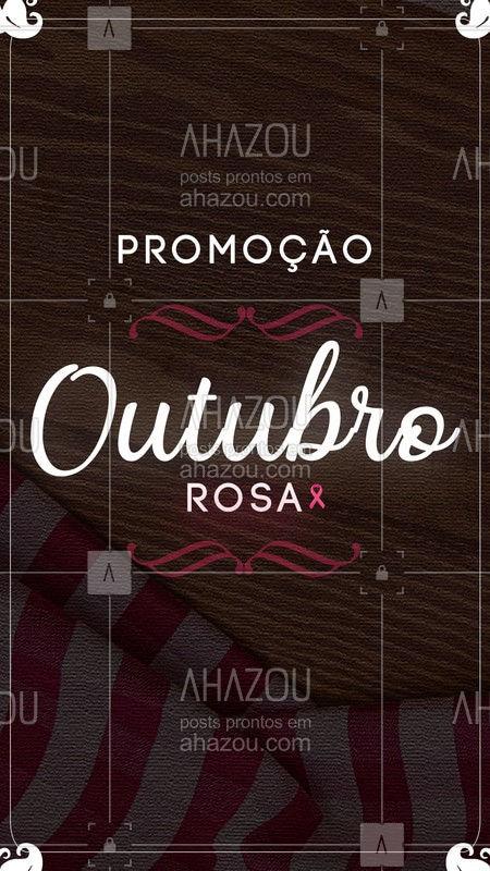 Outubro é o mês da conscientização para prevenção ao câncer de mama! Nós apoiamos essa causa e por isso temos uma promoção especial pra vocês de Outubro Rosa! ?? #promoção #ahazoutaste #outubrorosa #outubro #gastronomia